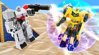 Бамблби в видео сборнике - Автоботы и Вторжение Десептиконов! - Игры битвы роботов Трансформеров