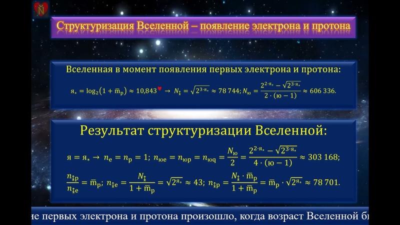 Законы творения Вселенной
