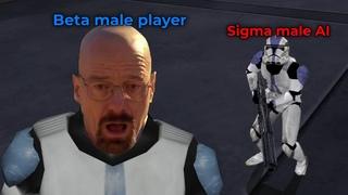 Walter white vs the sigma male battlefront AI