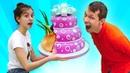 Самые смешные Челленджи с Едой! - Прикольное видео шоу Вики и Феди. Сборник видео игры дома