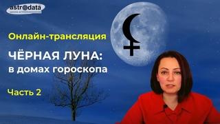 Чёрная Луна в домах гороскопа от 7 до 12. Часть 2. ТАЙМИНГ ПОД ВИДЕО. Список курсов под видео.
