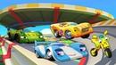 Мультик про машинки Супер Ралли - Гоночные машины спасают мотоцикл - Игры гонки