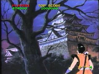 Ninja Hayate (1984 Taito) Start to Finish on Daphne (Singe)