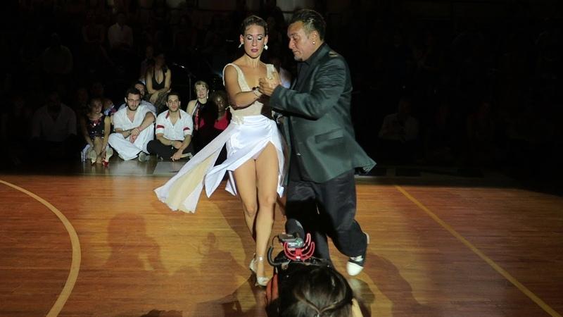Mariano Chicho Frumboli Juana Sepulveda at A Los Amigos Tango Festival Rythymno Crete 2019 6