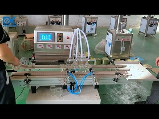 Automatic filling machine filler for oil,ink,cleaner,water,desktop design,4 filling nozzles head