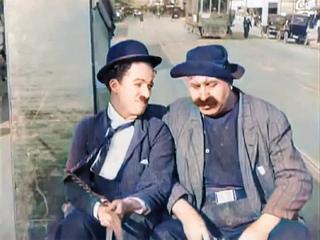 His Musical Career (1914) - CHARLIE CHAPLIN - Mack Sennett - color  (Laurel & Hardy)