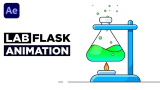 Easy Chemical Lab Flask Animation After Effects Tutorial