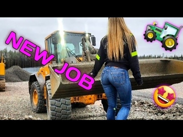 Operating a frontloader POV Angelica Larsson