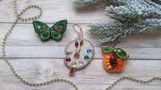 Вышиваем и собираем броши от Crystal Art, Абрис арт и подвеску от Nova Stitch