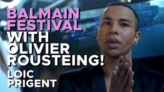 BALMAIN: OLIVIER ROUSTEING BIGGEST MENSWEAR SHOW! by Loic Prigent