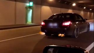 BMW M5 E60 V10 Supercharger 360km/h Autobahn & Tunnel SOUND