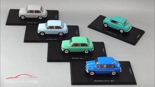 Масштабные модели ЗАЗ-965 «Запорожец»   DiP Models   Коллекция советских микролитражных автомобилей