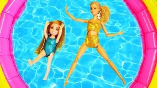 Spielspaß mit Barbie und Nicole - 2 Folgen am Stück - Puppen Video für Kinder