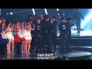 151230 KBS 가요대축제 EXO ENDING, 서로 포옹하고, 곳곳에 인사해주는 착한 엑소 (FULL FOCUS)