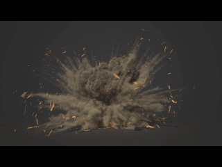 Thinking particles & Fume FX shed explosion