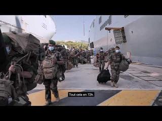 [SolidariteLiban] Le Tonnerre arrive au large de Beyrouth, un état-major interarmées à son bord