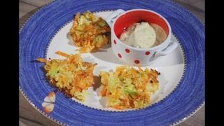 Юлия Высоцкая — Капустные оладьи с морковью и луком-пореем