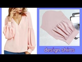 Thiết kế Áo kiểu tay phồng nối giữa cực thời trang |design shirts |basic Sewing techniques |
