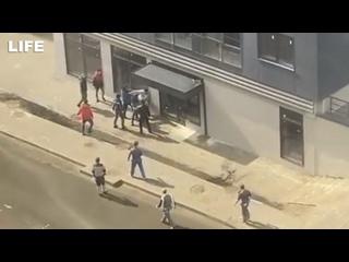 Строители устроили массовую драку со стрельбой