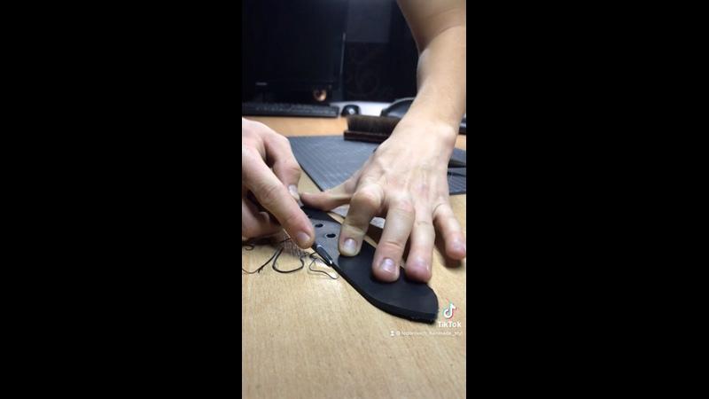 Процесс изготовления Мужского ремня