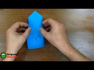 Поделки из бумаги. Простая оригами коробочка. Crafts made of paper. Easy origami box
