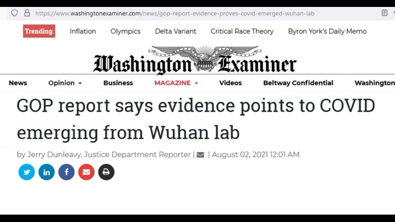 GOP report says evidence points to COVID emerging from Wuhan lab
