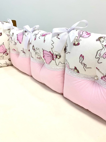 💨Объёмные бортики - подушки в кроватку создадут дл...