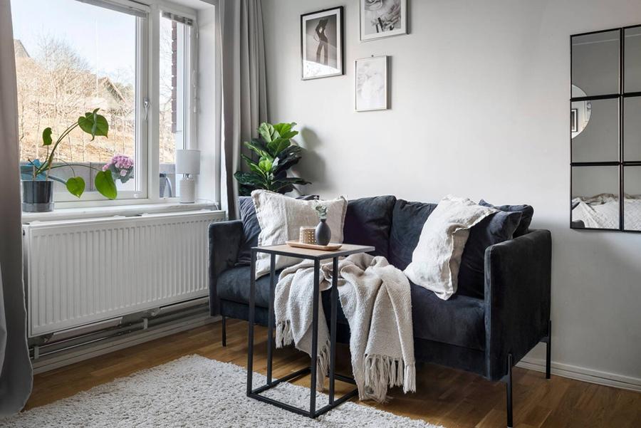Интерьер маленькой скандинавской квартиры 19 кв.