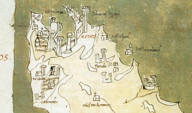 Оригинальная карта Буондельмонти (1420 г.)