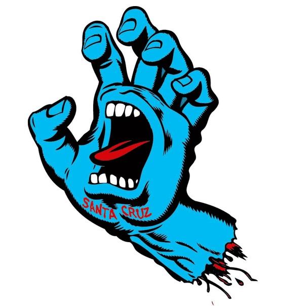 Логотип Screaming Hand, нарисованный Джимом Филлипсом в 1986 году.