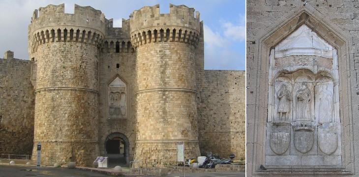 Екатерининские ворота и деталь рельефа