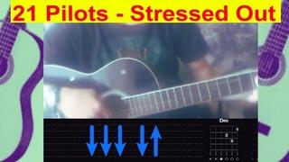 21 pilots - Stressed Out. БЕЗ БАРРЭ!!! Разбор на гитаре с табами