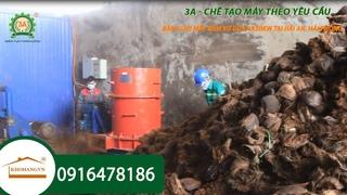 Cách xử lý rác thải hữu cơ bằng máy băm xay xơ dừa 3A tại Hải Phòng