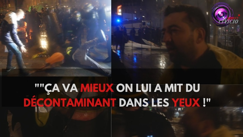 Julien gilet jaune tabassé par la police
