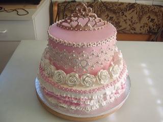 Двухъярусный торт. Маринкины творинки
