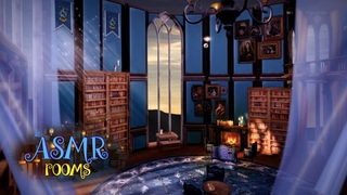 Harry Potter Inspired ASMR - Ravenclaw Tower Common Room -  Magical Ambience and Animation