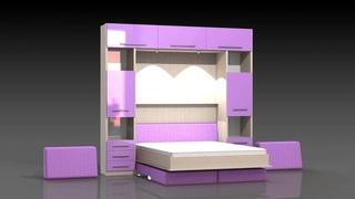 Подъемная кровать трансформер. Разные модели.