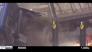 IWA K4 Shallow Mount Bollard Crash Test