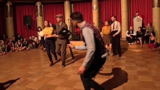 Andreas, Moe, Rokas, Simona, Jon, Jenna ★ St. Louis Shag • 2018 Prague Xmas Swing :: Benny's Bugle