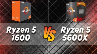Ryzen 5 1600 vs Ryzen 5 5600X